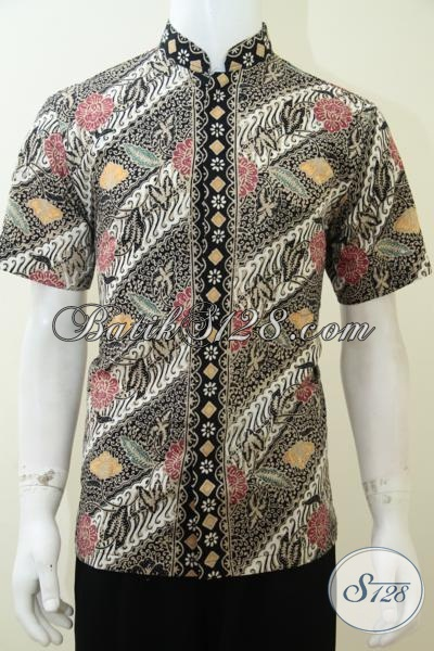 Distro Busana Batik Koko Online Terpercaya, Sedia Model Terbaru Hem Batik Koko Kerah Shanghai Paling Fenomenal, Size M