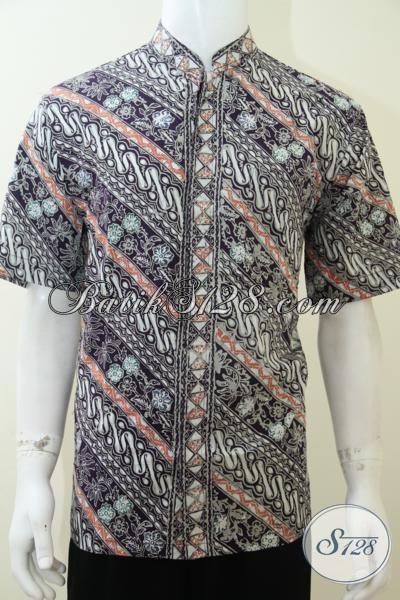 Jual Kemeja Batik Modern Paling Banyak Di Cari Anak Muda Jaman Sekarang, Busana Batik Koko Kerah Shanghai Modern Modis Dan Gaul, Size L