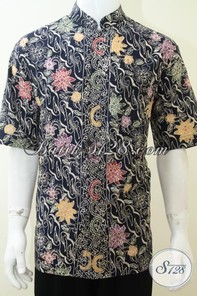 Baju Batik Bagus Halus Adem Nyaman Dikenakan, Busana Batik Lengan Pendek Model Koko Paling Laris Saat Ini, Size XL