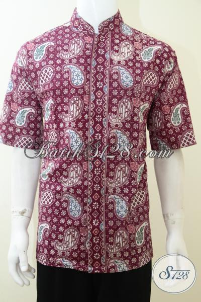 Pusat Penjualan Kemeja Batik Kerah Shanghai terlengkap, Baju Batik Koko Motif Terkini Bahan Halus Adem, Size XL