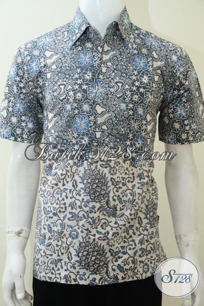 Koleksi Baju Batik Desain Paling Baru Kombinasi Dua Motif Jadi Satu, Hem Batik Kerja Karyawan Bank BUMN Dan Swasta, Size M