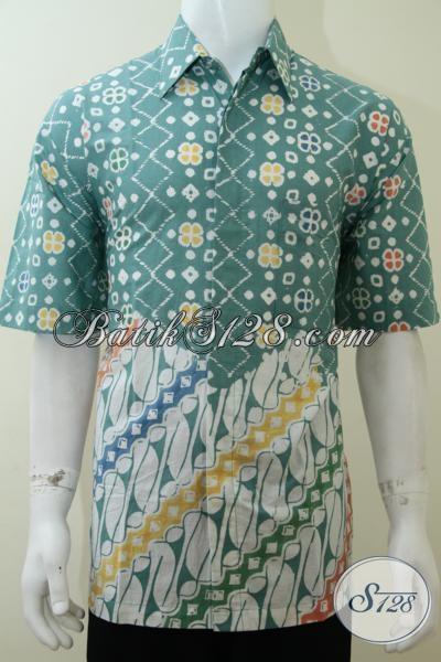 Kemeja Batik 2 Motif 2 Warna Pagi Sore Bagus Bro [LD2272C-XL]