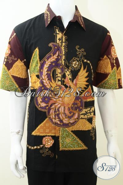 Kemeja Batik Tulis Premium Asli Buatan Pengerajin Solo, Baju Batik Klasik Modern Lengan Pendek Ukuran XXL (L3)
