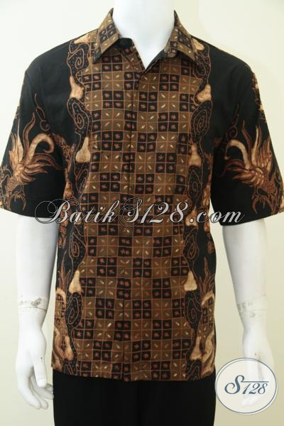 Baju Batik Kemeja Pria Modern, Batik Tulis Ukuran XL [LD2308TS-XL]
