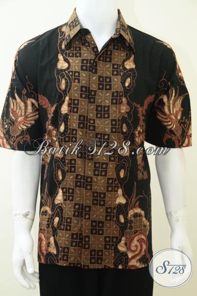 Pakaian Batik Klasik Khas Solo Jawa Tengah, Baju Batik Lengan Pendek Resmi Cocok Untuk Para Guru Dosen Hingga Direktur, Size XL