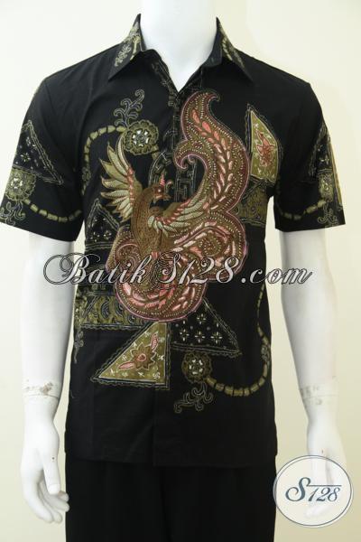Baju Batik Modern Terbaru, Asli Batik Tulis Solo, Untuk Pria Kerja Kantor, Eksmud [LD2317T-M]