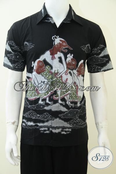 Baju Batik Wayang Motif Punakawan (Semar, Gareng, Petruk, Bagong), Batik Tulis Tematik [LD2318T-M]