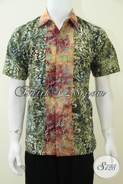 Baju Kemeja Remaja Pria Batik Keren Maskulin Gaul