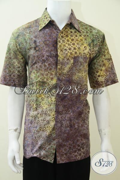 Baju Batik Gaul Pria Modern Lengan Pendek Ld2329cs M