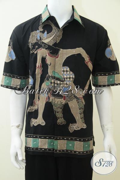 Busana Batik Kerja Laki-Laki Kantoran, Hem Batik Tulis Premium Model Lengan Pendek Tampil Gagah Elegan, Size XL