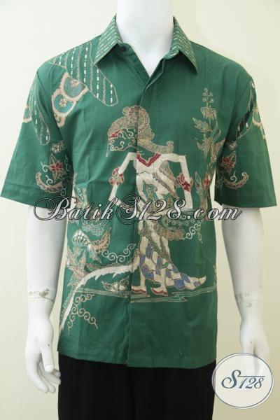 Distro Baju Kemeja Batik Wayang Solo, Batik Tulis Wayang Motif Dewi Shinta [LD2346T-XL]