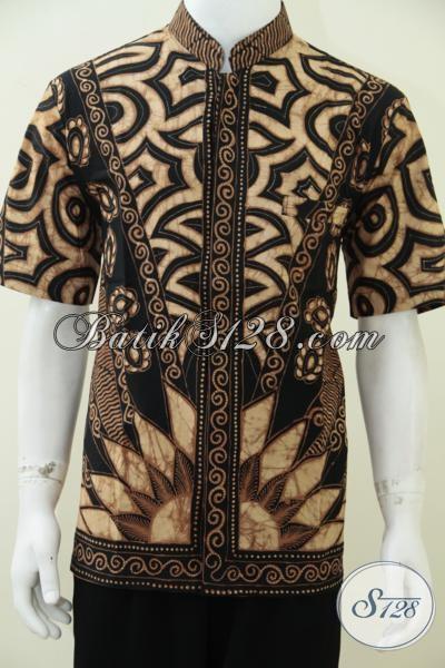 Busana Batik Premium Model Krah Shanghai, Batik Tulis Koko Keren Modern Untuk Pria Muda Dan Dewasa, Size XL
