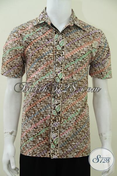 Kemeja Batik Trendy Model Junkies, Baju Batik Lengan Pendek Untuk Pria Muda Dan Remaja Gaul Masa Kini, Size M