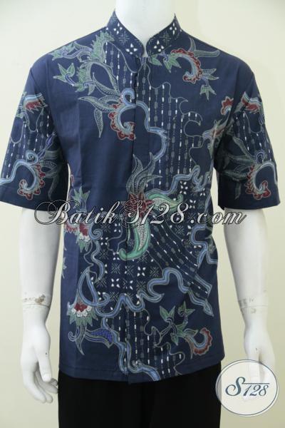 Kemeja Batik Kerah Shanghai Produk Asli Solo, Baju Batik Koko Keren Sangat Cocok Untuk Pria Muslim Merayakan Lebaran, Size XL