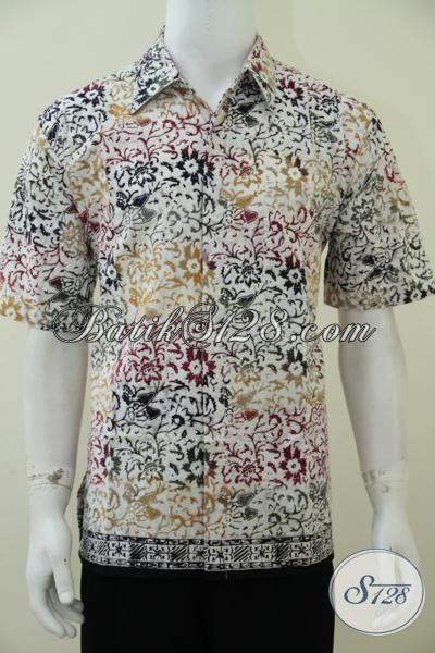Tempat Busana Batik Online, Pakaian Batik Trendy Produk Solo, Hem Batik Keren Pria Muda Tampil Maskulin, Size L