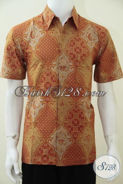 Jual Baju Batik Solo Murah Online Lengan Pendek, Motif Klasik Modern, Wirasat [LD2422P-L]