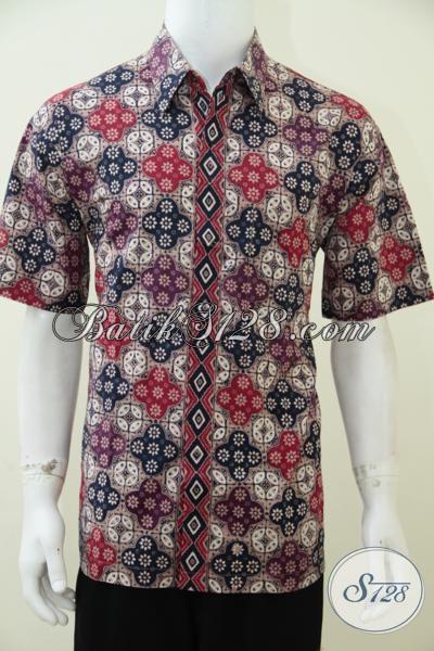 Pakaian Batik Anak Muda Terkini, Hem Batik Lengan Pendek Motif Unik Keren Pria Tampil Lebih Modis  Dan Tampan, Size L