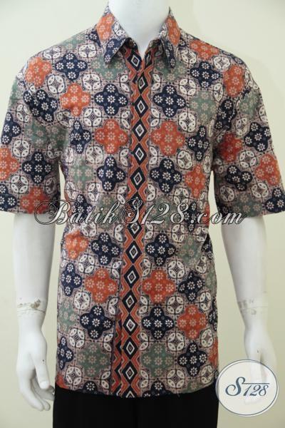 Jual Kemeja Batik Lengan Pendek Modern Gaul Dan Trendy, Busana Batik Keren Idola Pria Muda Dan Remaja Masa Kini [LD2431CT-XL]