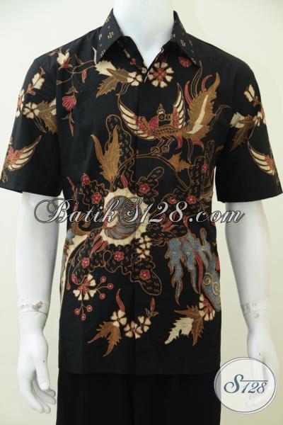 Jual Kemeja Batik Tulis Bagus Kwalitas Premium Dengan Pewarna Alami Soga Yang Ramah Lingkungan, Baju Batik Pria Penunjang Penampilan Keren setiap Hari, Size L