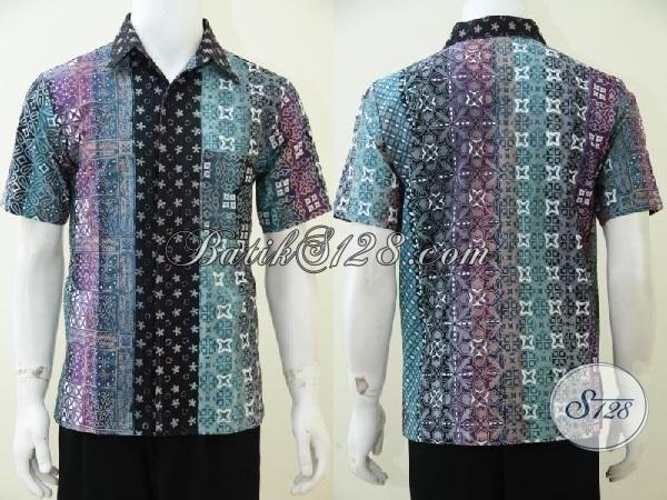 Baju Batik Keren Produk Solo Jawa Tengah Hem Batik Lengan