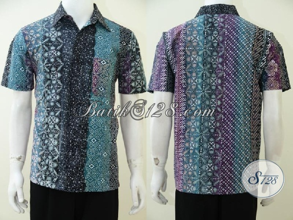 Pusat Pakaian Batik Solo Online Untuk Pria Muda Dan Dewasa Di Solo, Sedia Hem Batik Trend Terkini Dengan Warna Gradasi Dan Motif Unik Untuk Berbagai Acara, Size M