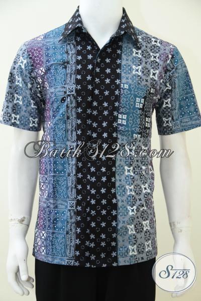 Toko Baju Batik Online Asli Solo Jawa Tengah, Jual Kemeja Batik Trend Mode 2014 Warna Gradasi Untuk Pria Muda Dan Dewasa Tampil Keren Dan Tampan [LD2504CTG-M]