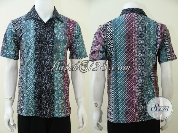 Jual Baju Batik Gradasi Trend Busana Batik Pria Muda Terbaru, Bisa Untuk Kerja Pesta Maupun Acara Resmi, Size M