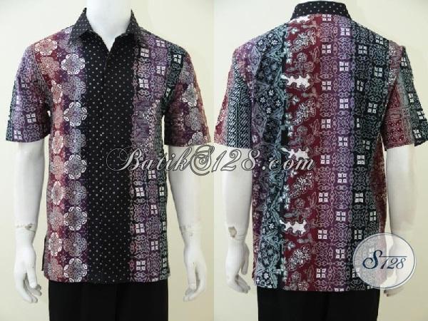 Pakaian Batik Solo Untuk Pria Trend Terbaru, Kemeja Batik Dengan Warna Gradasi  Busana Paling Populer Saat ini, Bisa Untuk Kerja Dan Jalan-Jalan, Size L