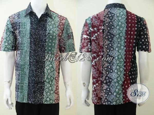 Kemeja Batik Gradasi Busana Kerja Pria Aktif Energic Baju