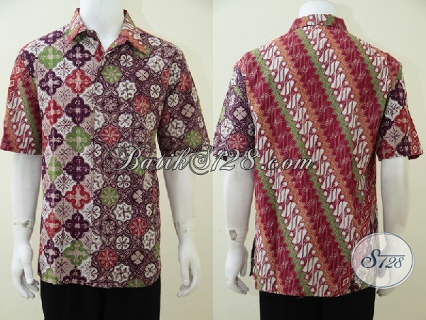 Busana Batik Trendy Motif Terbaru Cocok Untuk Pria Muda Dan Remaja Gaul Masa Kini, Hem Batik Kwalitas Premium Dengan Harga Yang Minimum, Size XL