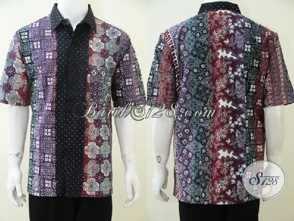 Baju Batik Gradasi Dengan Motif Terkini, Kemeja Batik Istimewa Untuk Laki-Laki Masa Kini Tampil Lebih Gagah Dan Tampan [LD2523CTG-XL]