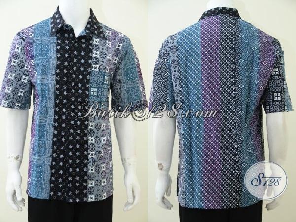 Pedagang Batik Solo Melayani Pembelian Online, Sedia Kemeja Batik Gradasi Trend Busana Kerja Pria Muda Masa Kini, Size XL