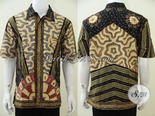 Online Shop Solo Batik Dengan Koleksi Terlengkap, Sedia Kemeja Batik Tulis Soga Kwalitas Istimewa, Baju Batik Resmi Mewah Mahal Berkelas, Size XL