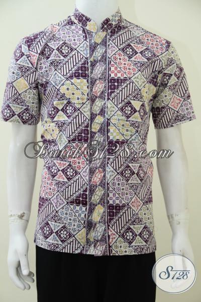 Hem Batik Koko Dengan Desain Motif Terkini Lebih Fresh Dan Modern, Kemeja Batik Kerah Shanghai Untuk Pria Muslim Tampil Lebih Keren, Size M