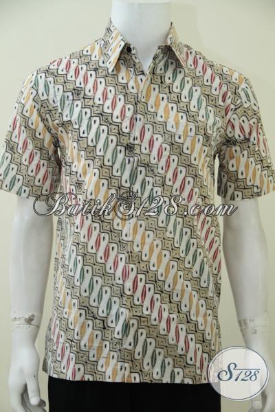 Pakaian Batik Parang Warna Soft Berpadu Motif Trend Saat Ini Menambah Penampilan Pria Sejati Lebih Maskulin Dan Modis [LD2557CT-M]