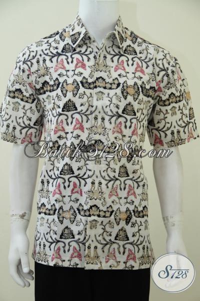 Juragan Baju Batik Solo Melayani Pembelian Online Kemeja Batik Trendy Terbaru Dengan Motif Unik Kesuakaan Pria Muda Jaman Sekaran, Size L