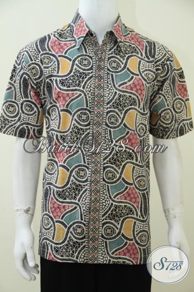 Hem Batik Bagus Dan Keren Motif Modern Terkini, Baju Batik Cap Tulis Produk Solo Sempurnakan Penampilan Pria Setiap Saat, Size L