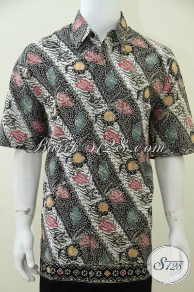 Baju Batik Laki-Laki Trend Masa Kini Dengan Motif Modern Lebih Modis Dan Berkelas, Hadir Dengan Hem Batik Cap Tulis Ukuran Jumbo Untuk Pria Gemuk Tetap Exist, Size XXL