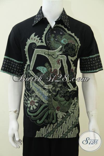 Kemeja Batik Tulis Terbaru Dengan Motif Wayang Arjuna, Baju Batik Keren Simbol Kejantanan Dan Ketampanan, Size L