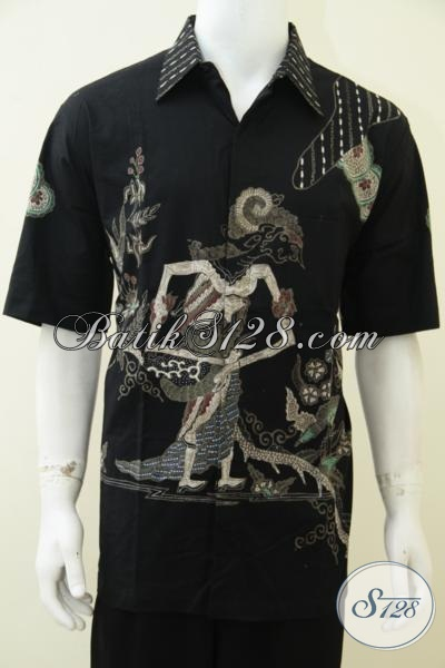 Distro Batik Online Sedia Baju Batik Wayang Proses Tulis Berkelas, Hem Batik Motif Dewi Shinta Dengan Ukuran Jumbo Untuk Pria Gemuk [LD2647T-XXL]