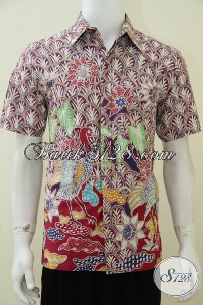 Jual Busana Batik Premium Anak Muda Proses Tulis Motif Modern, Baju Batik Full Furing Pria Tampil Keren Gagah Dan Berkelas, Size M