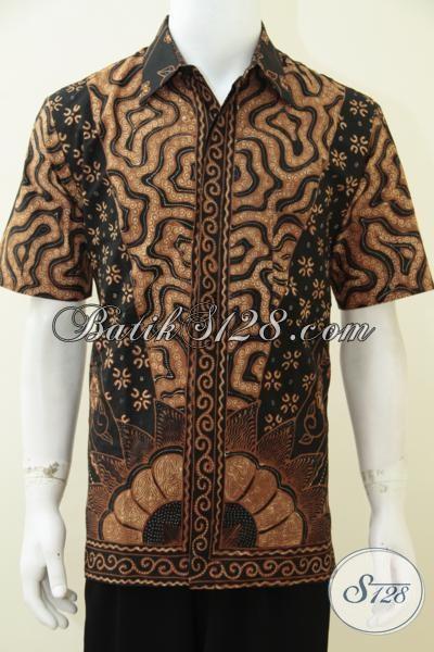 Toko Batik Solo Online Menjual Baju Batik Pria Kwalitas Premium Mahal Berkelas, Hem Batik Tulis Full Furing Membuat Laki-Laki Lebih Gagah Dan Percaya Diri [LD2656TF-L]