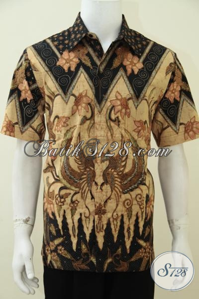 Jual Busana Batik Online Kwalitas Premium, Baju Batik Pria Dewasa Keren Dan Mewah Proses Tulis Soga Dengan Daleman Full Furing Seperti Jas Mambuat Penampilan Semakin Berkelas [LD2693TSF-L]