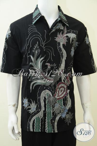 Kemeja Batik Trendy Masa Kini Exclusive Untuk Pria Yang Paham Fashion, Baju Batik Tulis Keren Dan Mewah Dengan Harga Bawah [LD2716T-XL]