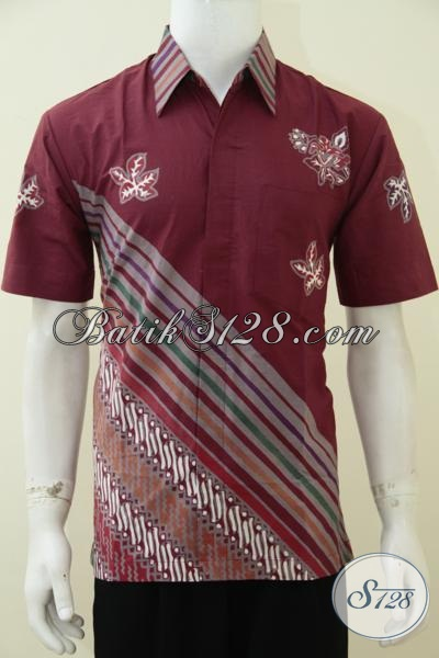 Online Shop Batik Solo Paling Up To Date, Jual Baju Batik Modern Motif Trendy Warna Merah IStimewa Untuk Pria Muda Masa Kini, Baju Batik Keren Untuk Kerja Dan Modis Untuk Hangouts [LD2733CT-M]