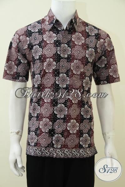 Jual Pakaian Batik Online Dengan Motif Trendy Terbaru, Baju Batik Lengan Pendek Proses Cap Tulis Kwalitas Bagus Harga Terjangkau [LD2739CT-M]