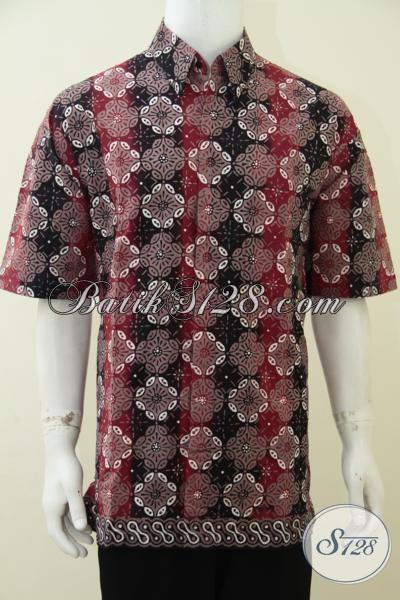Hem Batik Jumbo Untuk pria Gemuk Tetap Tampil Trendy Dan Gagah, Baju Batik Lengan Pendek Proses Cap Tulis Harga Motif Keren Dengan Terjangkau [LD2746CT-XXL]