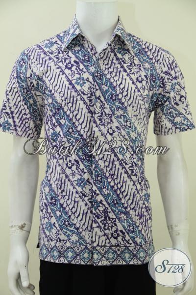Tempat Belanja Busana Batik Pria Secara Online, Sedia Kemeja Batik Bagus Kwalitas Premium Dengan Harga Terjangkau, Baju Batik Lengan Pendek Motif Parang Modern [LD2753C-S]