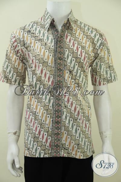 Hem Batik Motif Parang Terbaru Lebih Fresh Dan Trendy, Baju Batik Lengan Pendek Kwalitas Bagus Harga Terjangkau, Size M