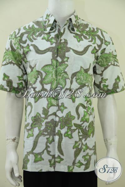 Baju Batik Cowok Macho Trend Terkini, Hem Batik Lengan Penden Kombinasi Tulis, Cocok Untuk Pesta Hangouts Maupun Kerja, Size L